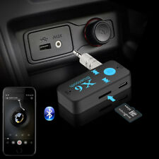 AUX Receptor Bluetooth USB Adaptador Audio 3.5mm Inalámbrico coche hogar estéreo