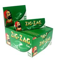 10 x ZIG ZAG KING SIZE GREEN SMOKING CIGARETTE ROLLING PAPERS GENUINE