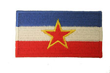 YUGOSLAVIA WITH STAR COUNTRY FLAG EMBROIDERED IRON-ON PATCH CREST BADGE