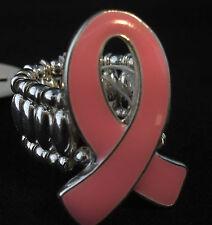 Pink Ribbon Stretch Ring