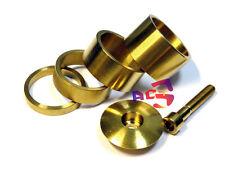"""4 Gold Titanium / Ti Spacer 1-1/8"""" (5-10-15-20mm) & Headset Cap & M6 x 35mm Bolt"""