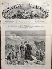L'UNIVERS ILLUSTRE 1876 N 1096 LE DEBORDEMENT DE LA SEINE A MAISONS-ALFORT