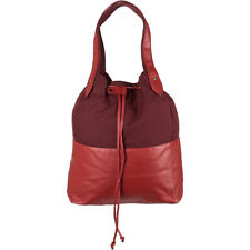 Volcom Blockhead Tote Bag - Women's Red Handbag - Cotton / Faux Leather - Surf