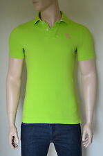 NUOVO Abercrombie & Fitch Mount Marshall Polo Verde Rosa MOOSE S Rrp £ 72