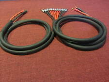 RapcoHorizon, TriWire Speaker Cable 1 Pair, 2 Spades to 6 Banana, 10 Ft.