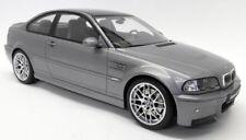 Otto escala 1/12 BMW M3 CSL E46 Gris Metálico/Coche Modelo de Resina de Carbono Sellado