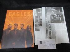Eagles 2001 World Tour Book w Belgian Ticket Don Henley Glenn Frey