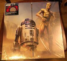 New sealed Halex Star Wars C3PO R2D2 dart board double side,case, 6 steel darts