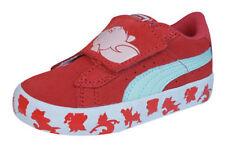 Scarpe in pelle rossa con chiusura a strappo per bambini dai 2 ai 16 anni