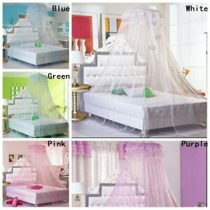 Hanging Mosquito Net Round Lace Mesh Curtain Dome Bed Canopy Princess Netting