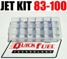 NEW GAS QUICK FUEL HOLLEY JET KIT 83-100 4 EACH IN CASE
