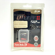 SanDisk ULTRA II SD Type 1 Memory Card 512MB Sony Canon Nikon DSLR Camera *NEW*