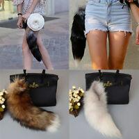 US Large Tassel Fox Fur Keychain Bag Tag Handbag Tail Pendant Charm Keyring Hot