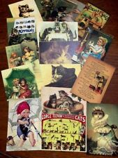Cat*Kitten*Kitty* Postcards*Vintage Style *16 Different Images*Envelopes 16