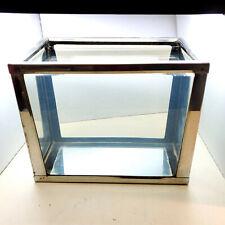 Vintage Stainless Steel Metaframe Aquarium 1 3/4 Gallon Glass Bottom RARE!