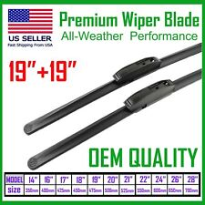 "Allstrong Best Quality 19""+19"" Windshield Wiper Blades All Weather Performance"