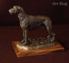 Irish Wolfhound - dog figurine on wooden base, high quality, Art Dog