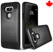 Slim Shockproof Armor Brushed Dual Layer Protect Cover Case for LG G6