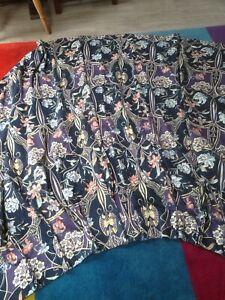 Vintage Crowson Alexandra cotton satin fabric curtain
