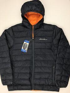 Eddie Bauer Mens Cirruslite Hooded Down Jacket Gray Large