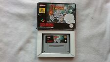 Super Turrican SNES Super Nintendo Game Boxed  + CART RARE RETRO PAL VERSION