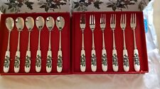 Portmeirion Holly and Ivy Set of 6 Teaspoons