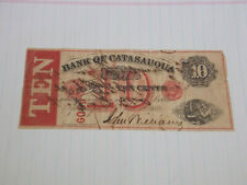 RARE!!!  1862 10 CENT NOTE BANK of CATASAUQUA PA LARGE CURRENCY