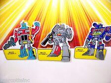 G1 Transformers Megatron Soundwave Optimus Prime Name Tags Vintage Cool 80s