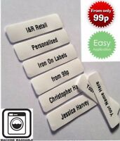 New Printed iron-on School Name Tapes Name Tags Labels Strips Personalised Label