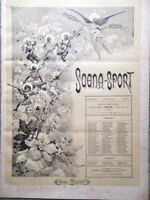 Scena Sport 1 Febbraio 1891 Reichemberg Diavolo Ipnotismo Coreografi e Ballerini