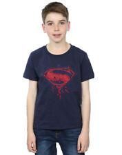 Vêtements blancs DC manches courtes pour garçon de 2 à 16 ans