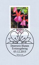 FRG 2015: The Fuchsia no. 3190 with the Bonner First day postmark! 1A! 1512