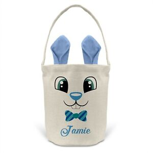 Personalised Easter Egg Tote Basket Bucket Treat Chocolate Bunny Rabbit Gift D3