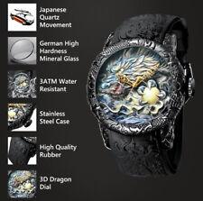 Black Dragon Ball Art Designed 3D Graphic Analog Water Resistant Wrist Watch