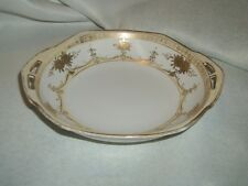Vintage Hand Painted Nippon Gold Trimmed Two Handled Dish 6 3/4 inches