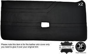 BLACK STITCH 2X FULL DOOR CARD LEATHER COVER FITS ALFA ROMEO ALFETTA GTV