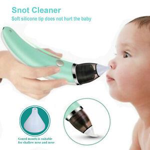 Electric Baby Silicone Nasal Aspirator Vacuum Sucker Nose Mucus Snot Cleaner UK
