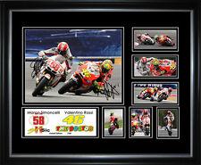 Marco Simoncelli & Valentino Rossi Signed Framed Memorabilia