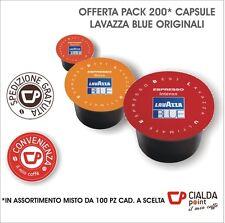 200 CAPSULE CIALDE CAFFE LAVAZZA BLUE MISCELE INTENSO, RICCO, VIGOROSO ORIGINALI