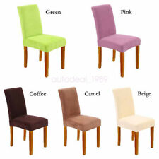 Comfortable 4pcs Velvet Dining Chair Cover Stretch Seat Dustproof Slipcover