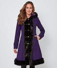 Joe Browns Womens Long Winter Coat with Faux Fur Trim