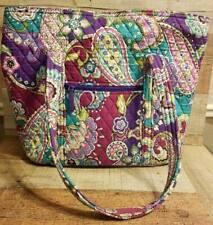 Vera Bradley Heather Large Overnight Tote Bag Carry All Purple Paisley