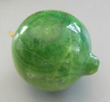 Vintage Polished Alabaster / Marble Fruit - Lime