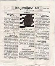New Albany Indiana Junior High School Newspaper Feb.1941 Valentine ISSUE LOOK!@!