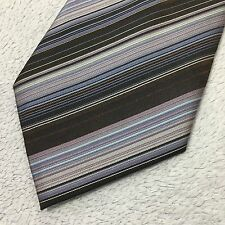 MENS CEDARWOOD STATE 9.5cm PURPLE LILAC WOVEN STRIPED LUXURY POLYESTER TIE