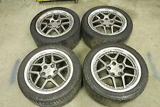 QTY: 4 Corvette C5 Z06 Replica Wheels 17x9.5 w/ Tires Used