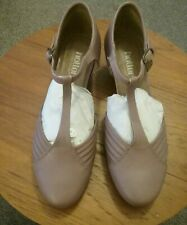 HOTTER QUICKSTEP QUICK DUSKY PINK BEIGE T. BAR SHOES WITH BOX SIZE 5
