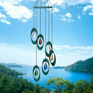Woodstock Wind Chimes - BELLISSIMO BELLS - Crystal drops - CYBRO - Brand New!