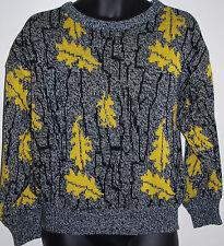 At Ease Mens Medium Long Sleeve Crewneck 100% Acrylic Sweater