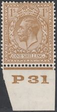 1924 BLOCK CYPHER SG429 1s BISTRE BROWN CONTROL P31 MINT HINGED
